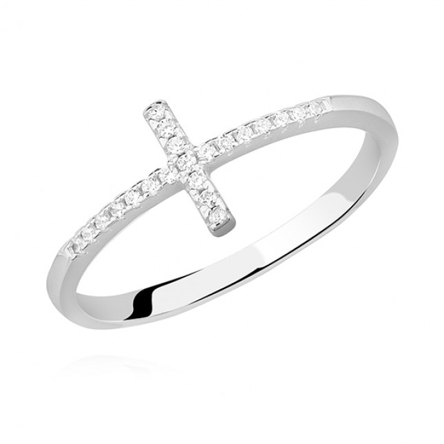 SIMPLE SILVER CROSS RING