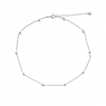DOTS SILVER CHOKER NECKLACE