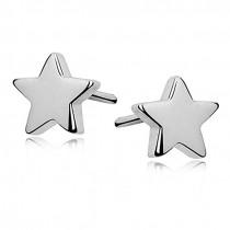 SILVER STAR EARINGS