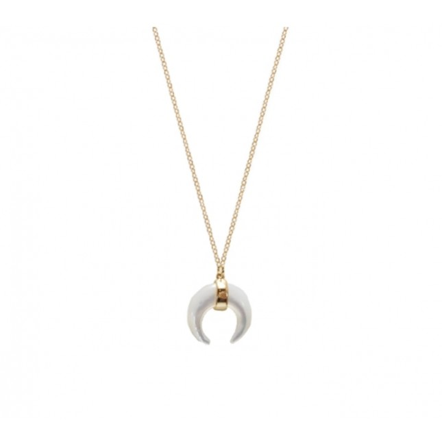 WHITE MOON GOLD NECKLACE