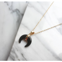 BLACK MOON GOLD NECKLACE