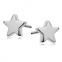 SILVER STAR EARINGS