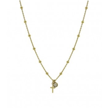 CROSS WITH QUARTZ NECKLACE
