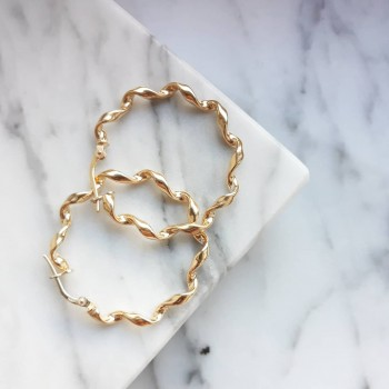 GOLD TWISTED HOOPS