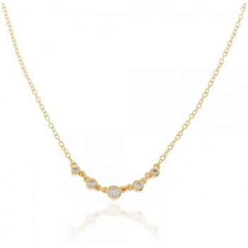 FIVE ZIRCONIA NECKLACE